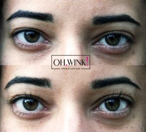 Beatrice front before and after Lash Lift Limassol Cyprus